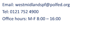 West Midlands Police Federation contact details