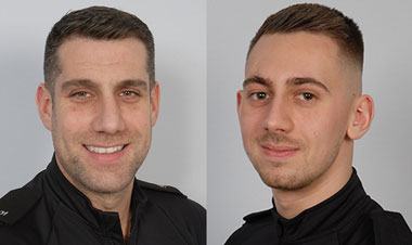 PC Dean Sobey and PC Rowan Birch