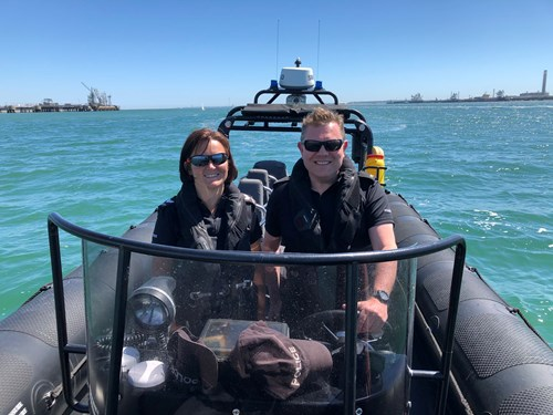 Federation Chair spends a day with the Marine Unit to ...