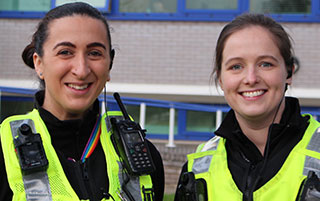 PC Jess Farchica and PC Natalie Hines