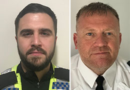 PC Richard Connolley and PC Lee Brown