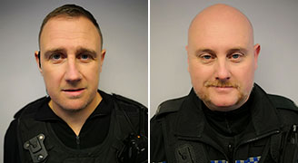PC Stephen Lamb and PC Andrew McCoombes