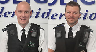 PC Stuart Bratherton and PC Mark Patterson