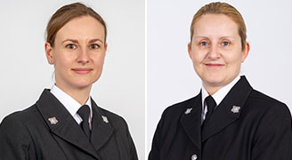 PC Victoria Ballantyne and PC Karen Canwell