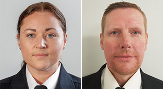 PC Hailey Routledge and PC Paul Rowell