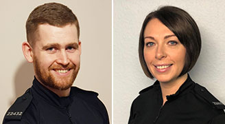 PC Adam McWalter and PC Lorna Walsh