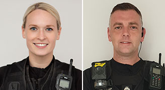 PC Avive Martin and PC Nick Hayter