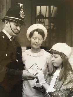 PC Parkins BEM with his wife and daughter