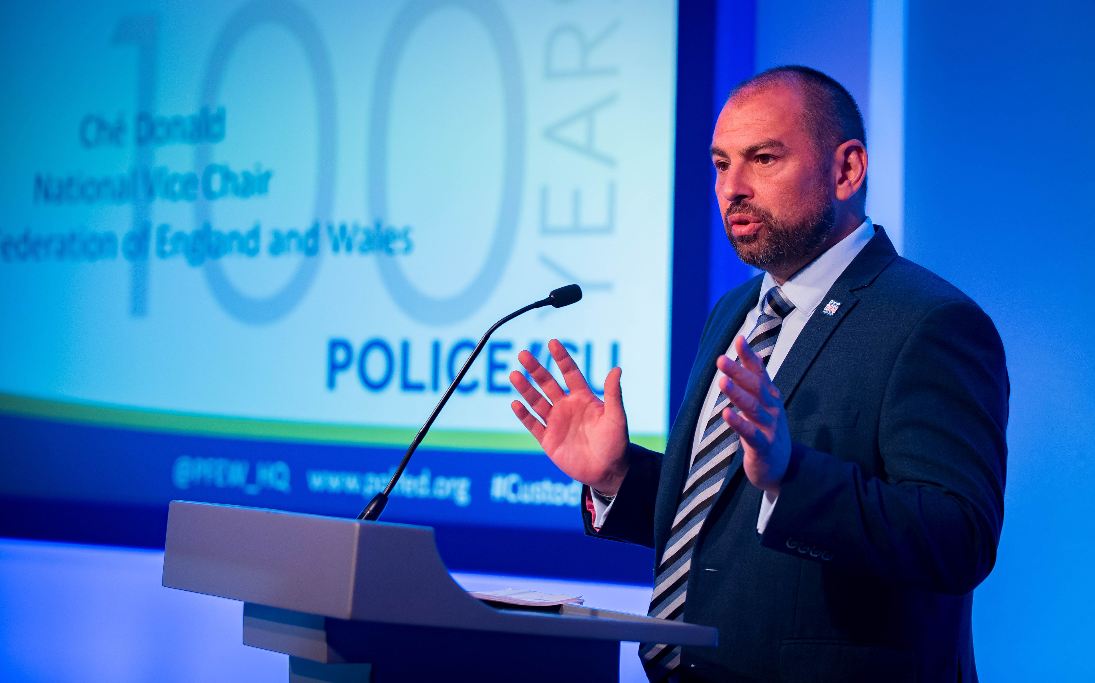 Che Donald, PFEW National Vice Chair presents on demand, capacity and trauma