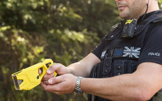 Officer armed with Taser