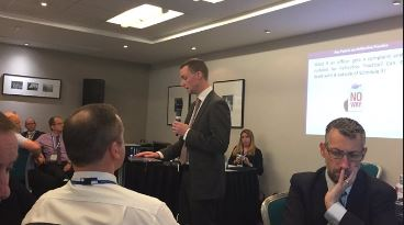 Ian Balbi, head of dicipline policy, Home Office Police Integrity Unit, speaking at CAPLOS