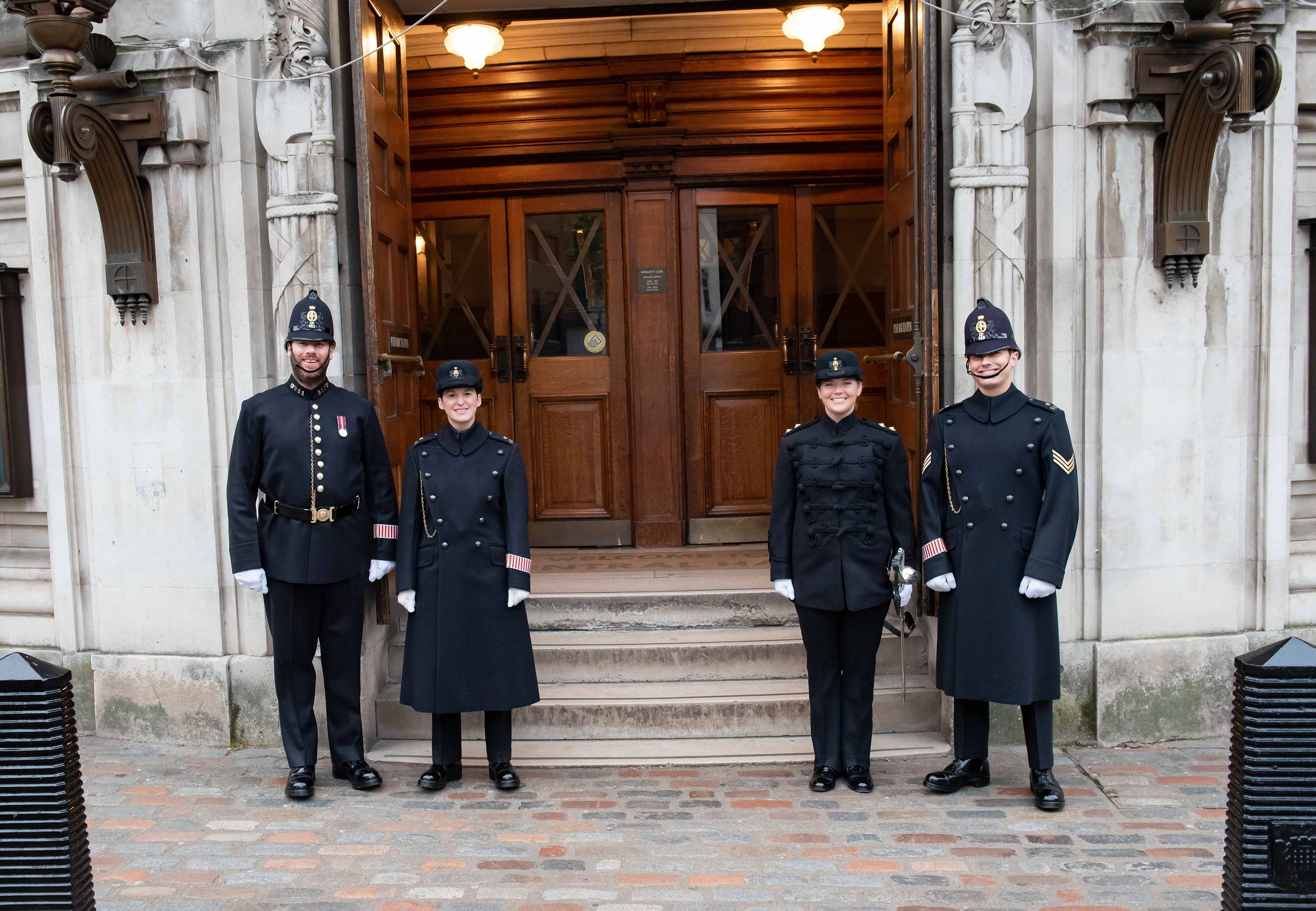 Guard on Honour outside Central Hall Westminster