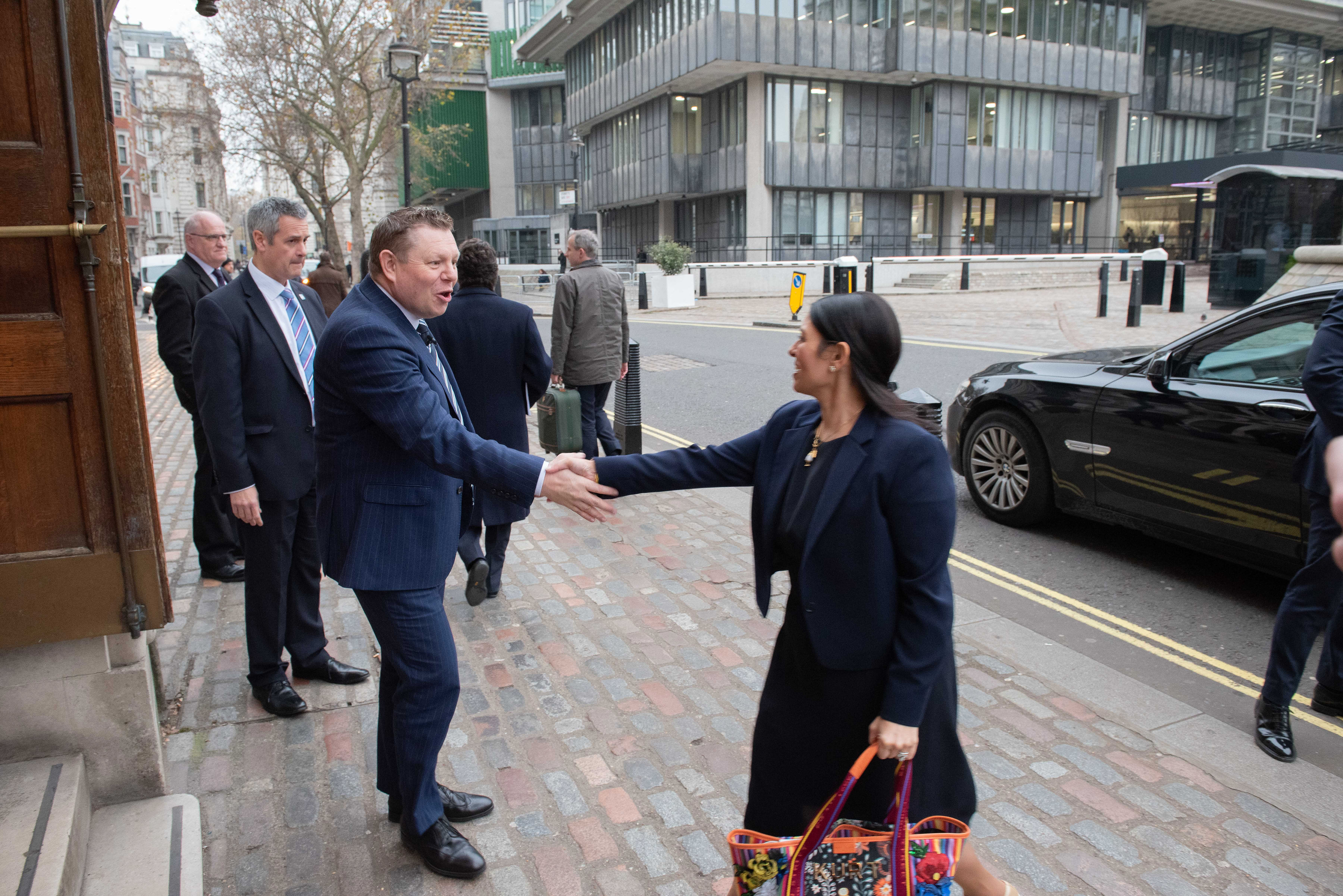 National Chair John Apter welcomes Home Secretary