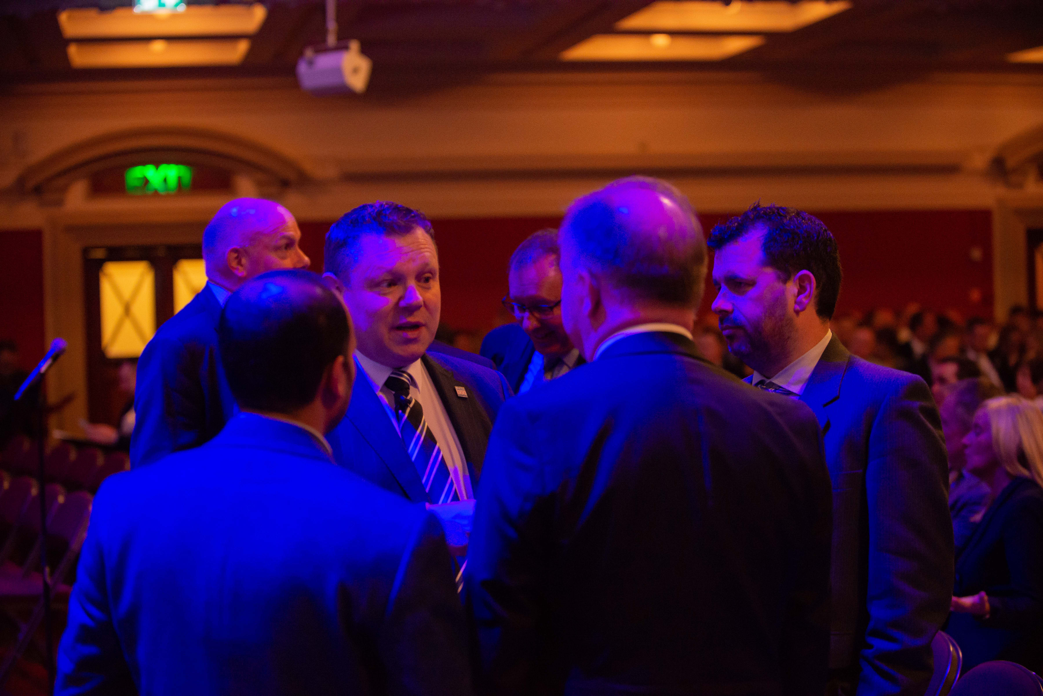 National Chair John Apter chats with guests