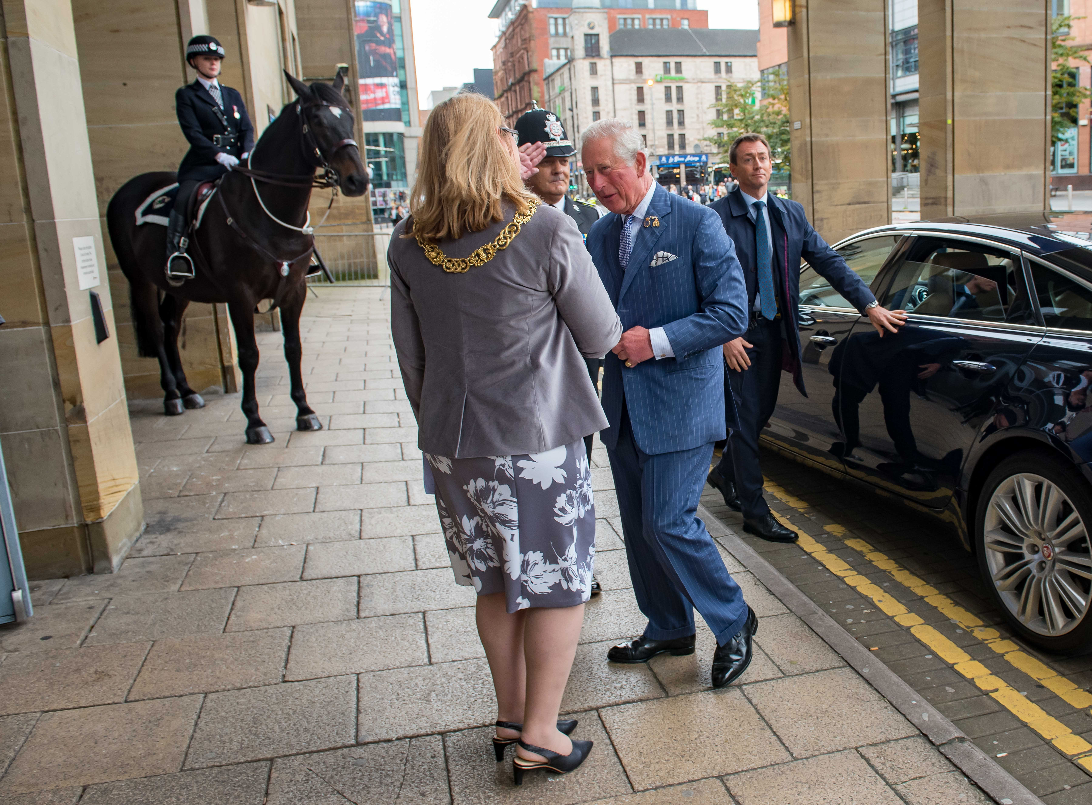 HRH The Prince of Wales arrives for National Police Memorial Day