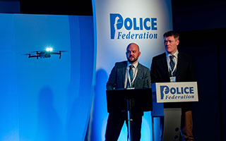 South Yorkshire Police demonstrate drone