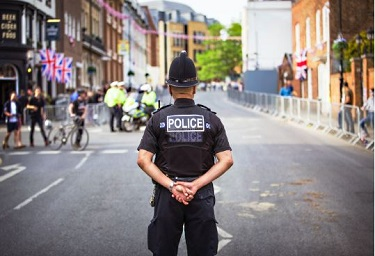 Stock image of officer