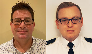 PS Nick Ashton-Jones and PS Dan Bramley