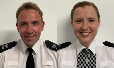 PC Mark Wilson and PC Liz Cargill