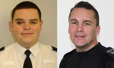 PC Thomas Scourfield and PS Geraint Jenkins