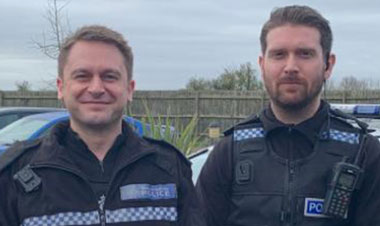 PC Andy Hoey and PC James Fitzmaurice