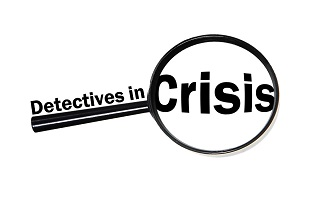 detectives in crisis logo of magnifying glass