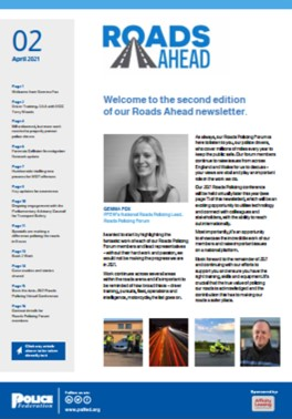 Roads Ahead Newsletter April edition cover image